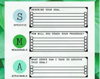 Smart goal printable | Etsy