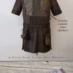 Ragnar Lothbrok Leather Jacket (replica) & belt / Custom size M / viking costume / custom overlay color / screen accurate