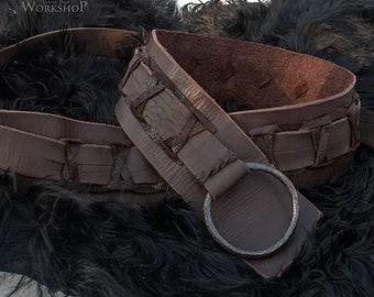 30b94957 Leather Viking's Belt with rope / custom size / LARP | Etsy