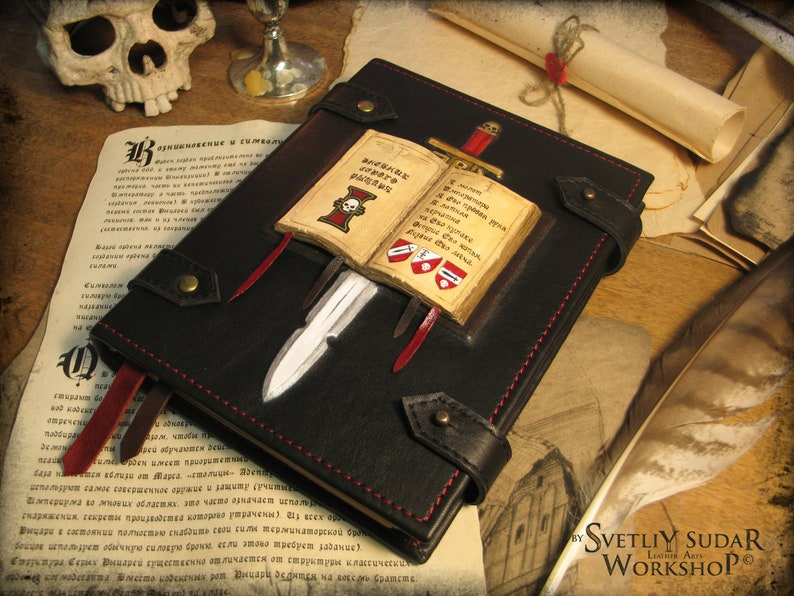 Leather Journal The Diary of Grey Knights inspired universe image 0