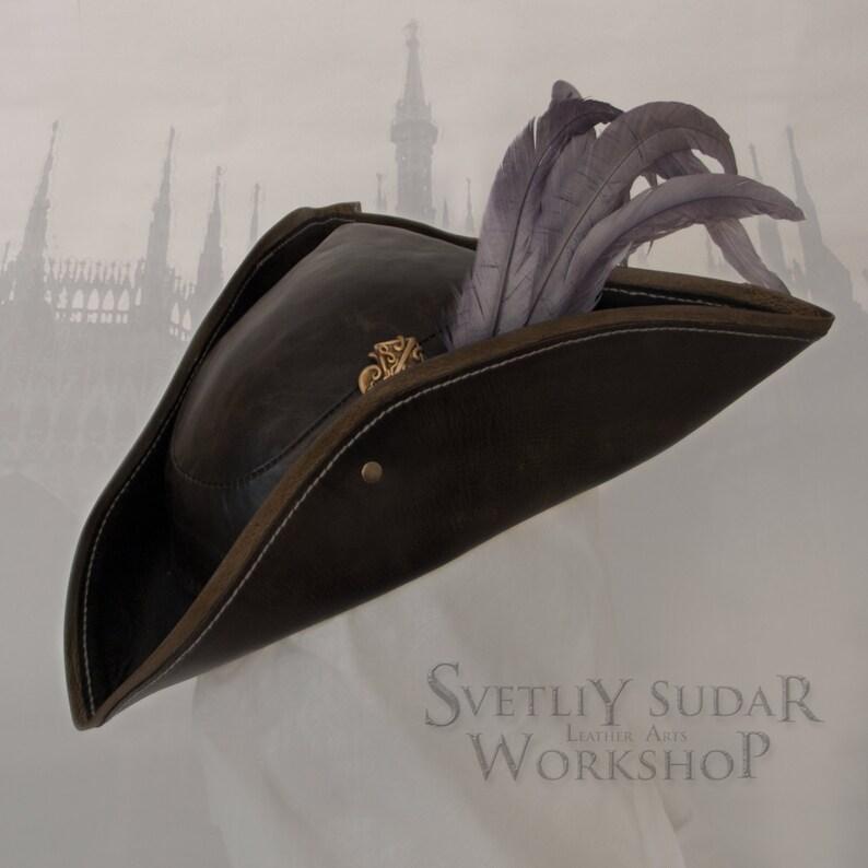 Inspired Bloodborne Lady Maria leather hat / LARP / Fantasy image 0