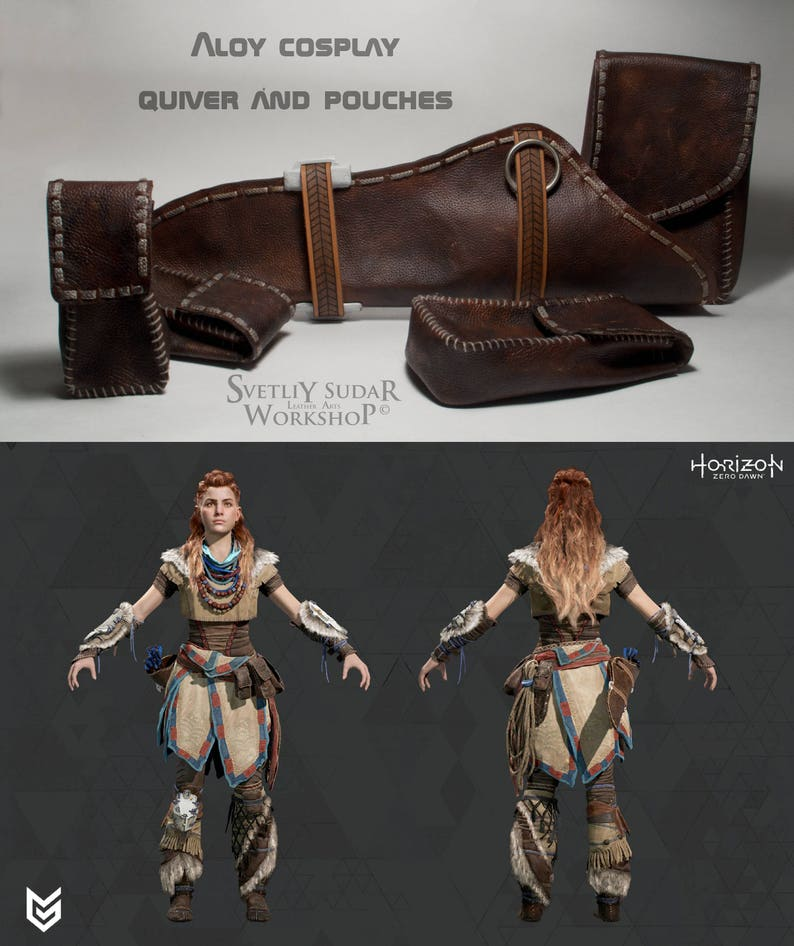 Inspired Horizon Zero Dawn Aloy Cosplay Leather Quiver and image 0