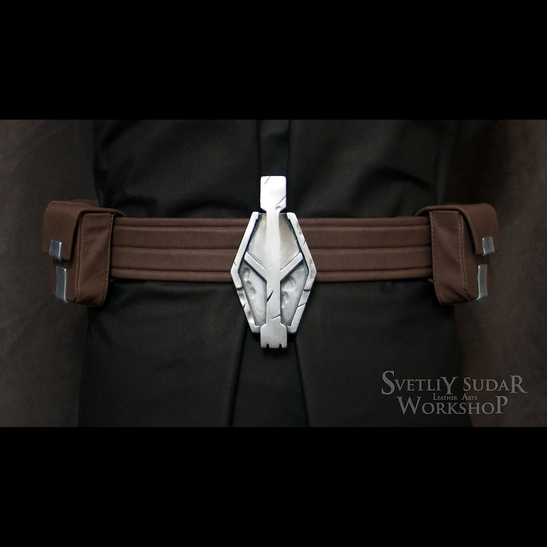Inquisitor Vindican leather belt with pouches replica / image 0