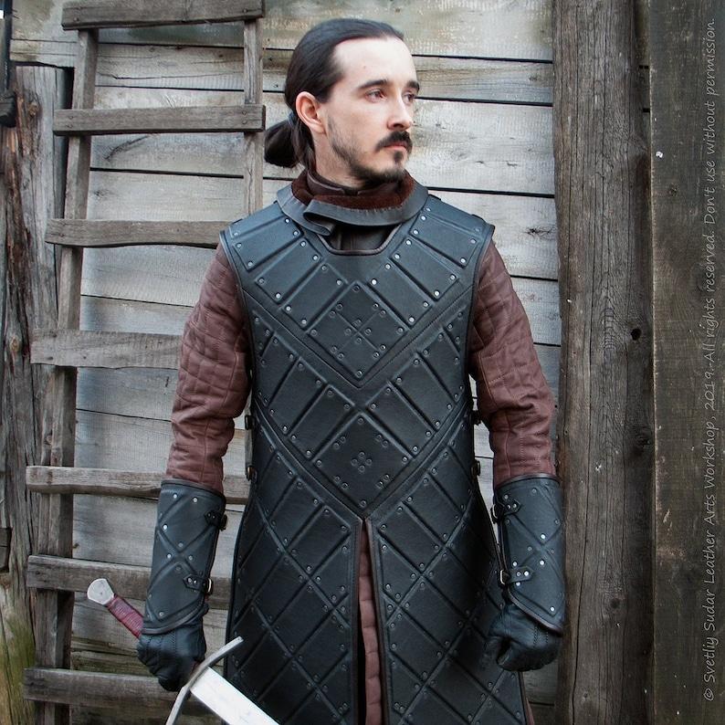 Jon Snow black leather armor replica / Jon Snow costume image 0