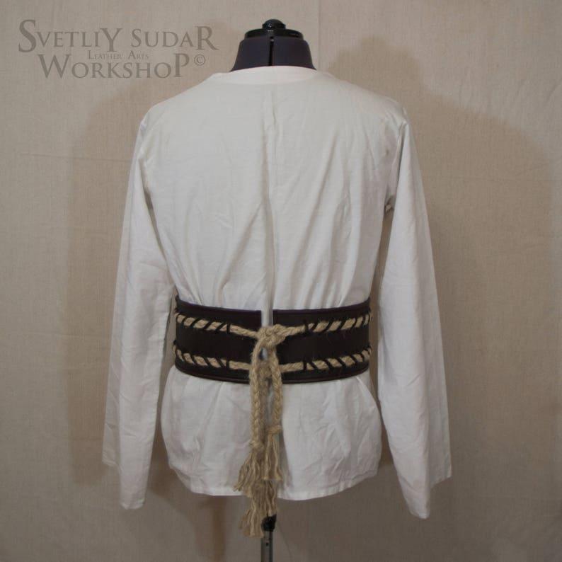 ba643298 Leather Viking's Belt with rope / inspired Rollo Sigurdsson - Vikings (TV  series) / custom size / LARP equipment / style fantasy / medieval