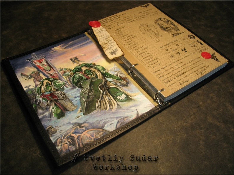 Leather Journal Dark Angels inspired universe Warhammer 40.000 image 0