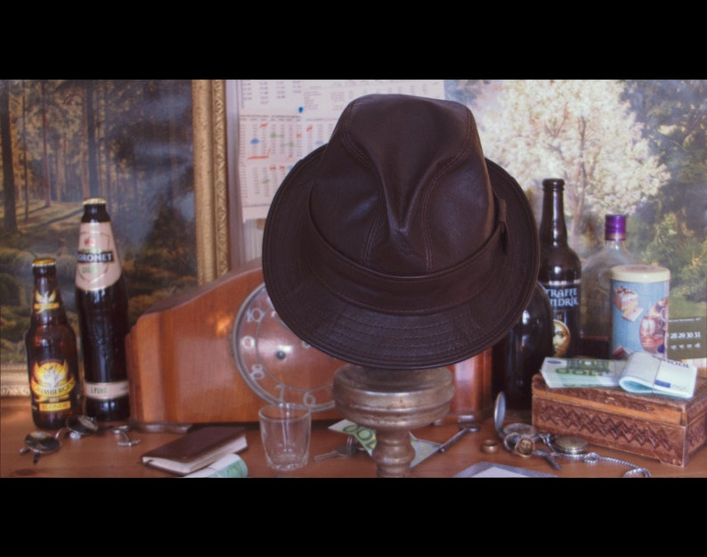 Leather Fedora hat / Mickey ONeil hat replica / Snatch / image 0