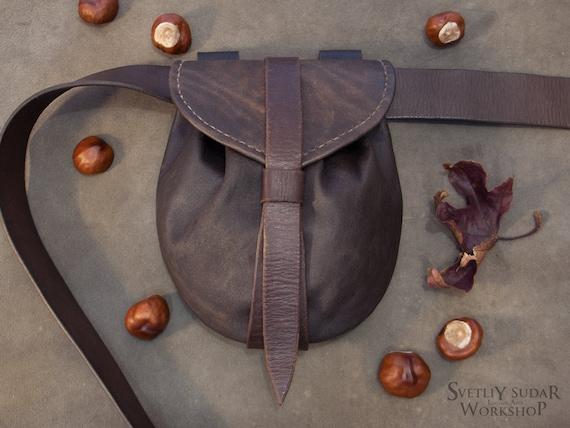 Medieval goatskin pouch
