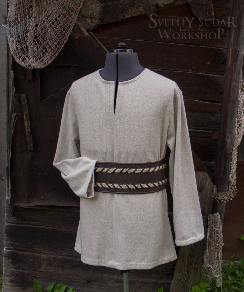 Linen Viking Shirt / inspired Ragnar Lothbrok  Vikings TV image 0