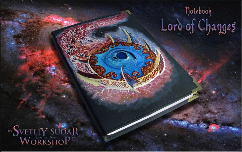 Handmade Leather Journal Lord of Changes / Tzeentch / image 0
