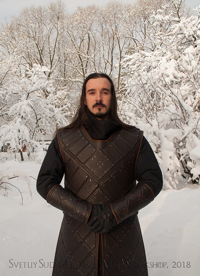 Jon Snow leather armor replica/ Stark Armor Costume / image 0