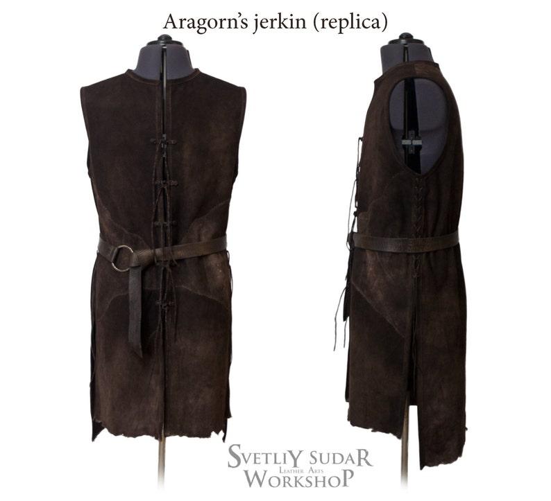 Inspired Aragorn leather vest replica / Strider's Jerkin / image 0