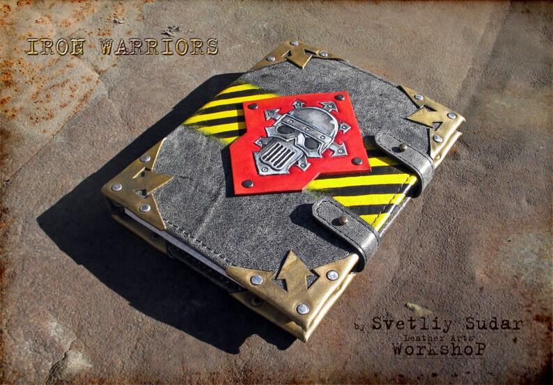Inspired Warhammer Iron Warriors Handmade Leather Scetchbook / image 0