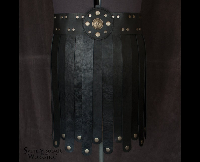 Roman Gladiator Leather Skirt / LARP costume / War Skirt / image 0