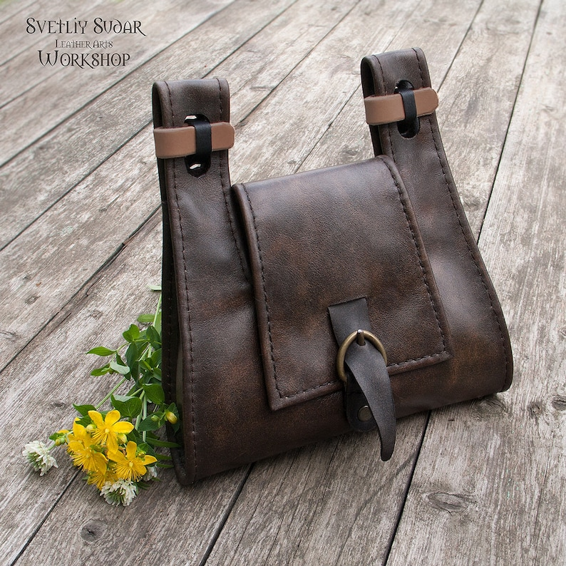 Leather belt bag inspired The Witcher 2: Assassins of Kings image 0