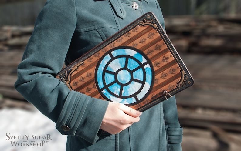 Leather Sketchbook Steam Powered Zeppelin / 83 x 118 inches image 0