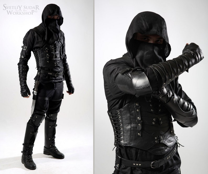 Dark Assassin leather armor inspired Thief  Flax Suit and image 0
