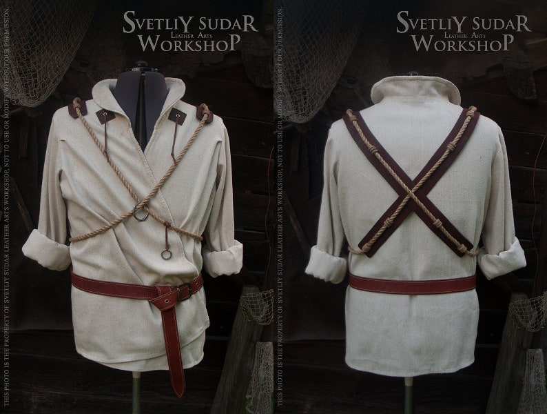 Inspired Witcher Geralt's White Shirt / Witcher cosplay / image 0