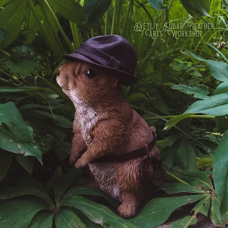 Mini Leather Fedora hat / Mickey ONeil hat replica mini 1:3 image 0