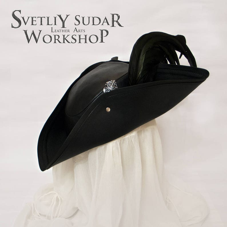Leather hat inspired Bloodborne / LARP / Fantasy style / image 0