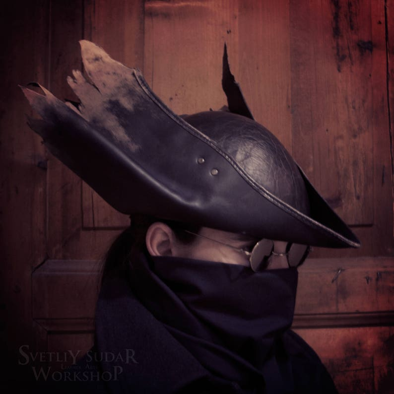 Inspired Bloodborne Hunter Leather Hat replica v.3 / LARP / image 0