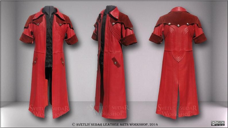 Dante Red Leather coat / Cosplay / Anime / LARP equipment / image 0