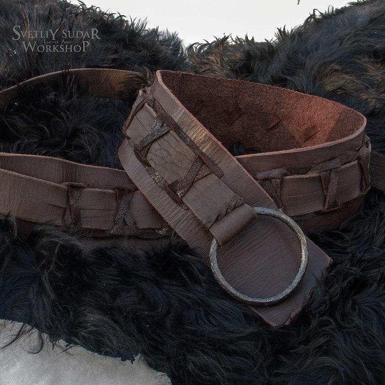 Viking Leather Belt inspired Ragnar Lothbrok / custom size / image 0