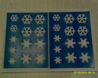 2 x snowflake sheets of face painting stencils for face painters and gift Christmas Frozen