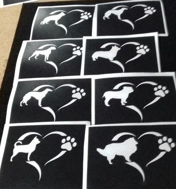 Labrador hobby dogs Retriever dog stencils for etching on glass craft