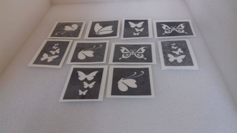 48621251f Butterfly stencils for glitter tattoos / airbrush / face | Etsy