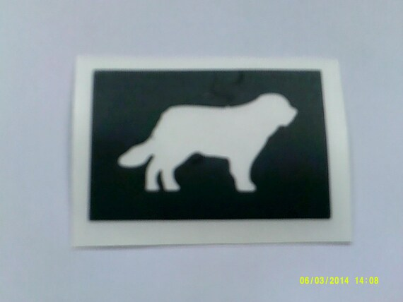 30 X St Bernard Newfoundland Bernese Mountain Dog Stencils For Glitter Tattoos Airbrush Cakes Many Other Uses