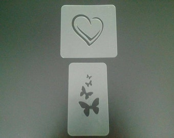 heart & butterflies face painting stencils for face painters and Christmas present
