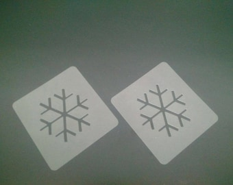 2 x snowflake face painting stencils for face painters and gift Christmas Frozen