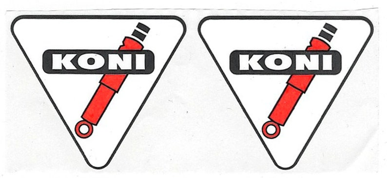 Koni Racing Decals Stickers 1 12 Inches Long Size Vintage Set Of 2