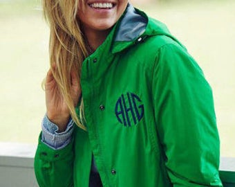 Monogram Charles River Women's Logan Jacket/Monogram Charles River Rain Jacket/Personalized Women's Rain Jacket