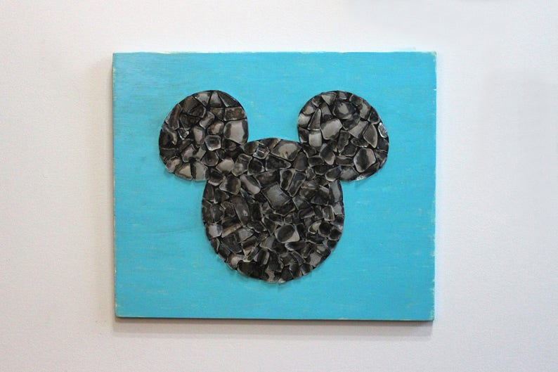 e1b12365603 Sea Glass Mickey Minnie Mouse Large Disney Wall Hanging