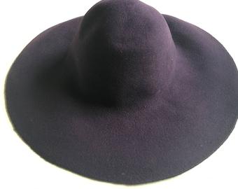 c2fa1f592e8 Stunning Handmade Felted Wool Floppy Fedora Hat for Women- Purple