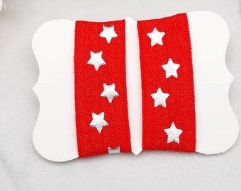 t-shirt bands sport ties sleeve ties black with gold stars t-shirt scrunchies sleeve bands