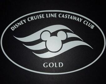 Disney Cruise Line Castaway Club Gold Vinyl Decal