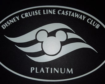 Disney Cruise Line Castaway Club Platinum Vinyl Decal