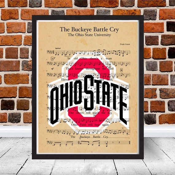 The Ohio State University Buckeyes Battle Cry Fight Song Sheet Etsy