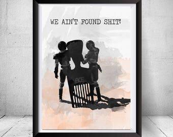 SpaceBalls We Ain't Found Shit Meme Framed Poster Print Comb the Desert Gift