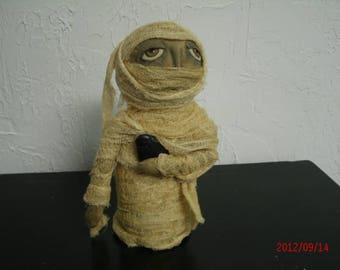 Primitive Halloween Mummy Doll