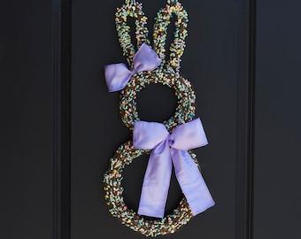 Easter Wreath, Bunny Wreath, Spring Wreath - Easter Door Hanger - Easter Door Wreath - Easter Door Decoration - Easter Bunny Wreath