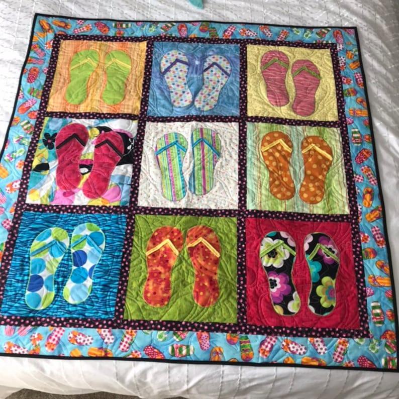 14e052f8e9f6 Handmade Flip Flop Quilt