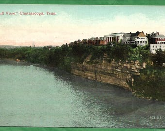 Vintage Postcard -   Historic Homes on Bluff View on the Beautiful Tennessee River in Chatanooga, Tennessee (3196)