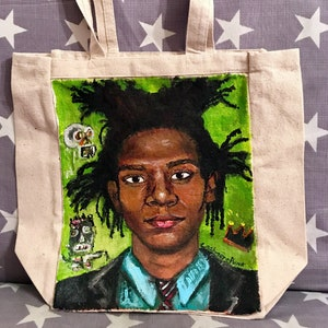 Peter Murphy Bauhaus She\u2019s In Parties Hand Painted Portrait Canvas Tote Bag