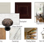 Transitional Rustic Kitchen Online Interior Design Moodboard