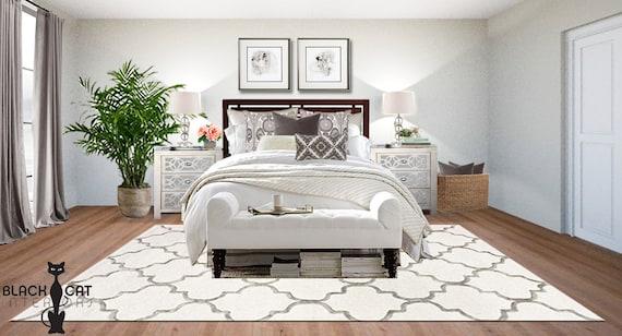 Glam Bedroom Online Interior Design Package - Hollywood Regency Bedroom  Design -z Gallerie Bedroom Design