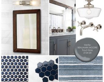 Bathroom Online Interior Design Moodboard